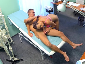 Ripped stud gets the naughty nurses special treatment