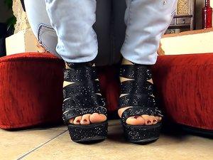 High Heels and Purple Toenails