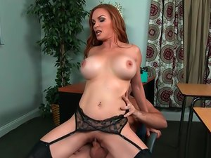 Sexy MILF Diamond Foxxx takes cock while wearing lingerie.