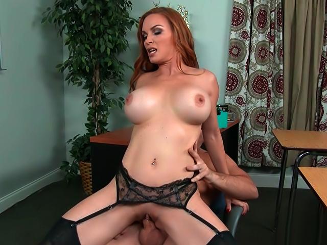 Sexy MILF Diamond Foxxx takes cock while wearing lingerie.