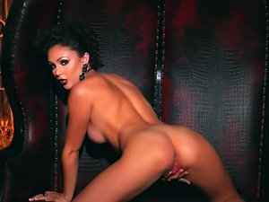 Black lipstick on naked babe Ariana Marie