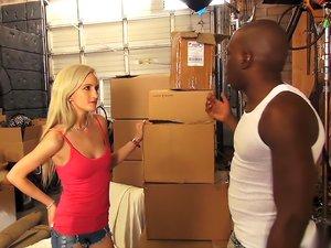 Hot Blonde gets Interracial Dick
