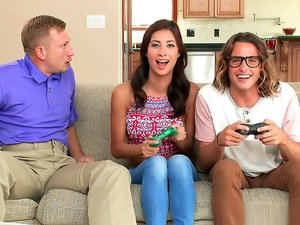 Playing Video Games Turns to a Threesome