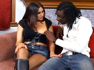 Voluptious Brunette and her Black Boyfriend