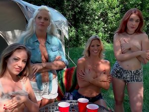 Cute Campers get Naughty in Nature