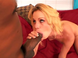 Skinny Blonde gets a Big Black Cock