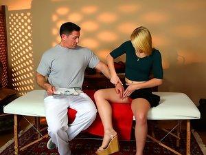 Tight blonde Trillium has hot massage sex