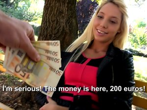 Teen blonde fucked for money