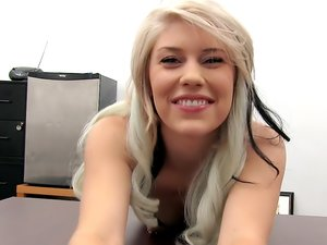 Adorable Blonde Teen Pounded on a Desk