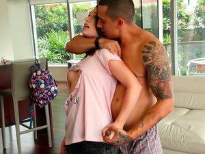 Horny Teen Taken by Her Boyfriend