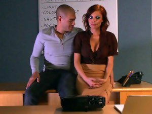 Dirty teacher Britney Amber fucks a student