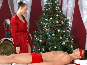 Surprise Christmas sex from a gorgeous girl
