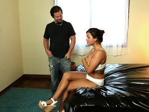 Brunette Teen Gives a Fantasy Massage
