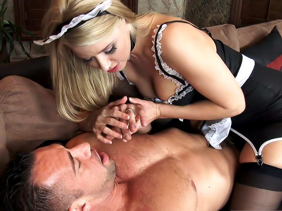 French maid Anikka Albrite fucked by a big dick