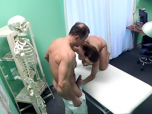 Sex on the exam table with her horny doctor