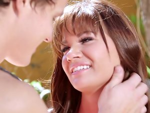 Curvy babe Alison Rey having passionate sex with her boyfriend.