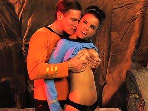 Dillion Harper nailed in Star Trek parody.