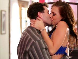 Aidra Fox having passionate sex with James Deen.