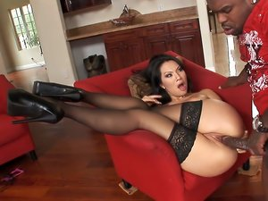 Huge Black Cock Splits Tight AsianAss