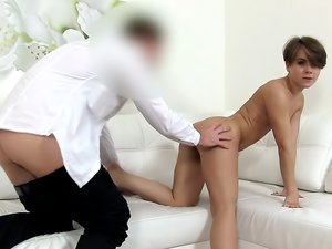 Student Gets Spunked Over in Casting