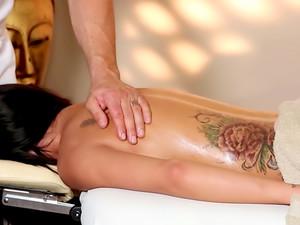 Busty Brunette Massage