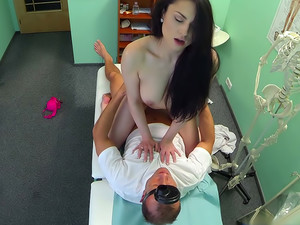 Doctors cock persuades sexy patient not to have an unneeded operation